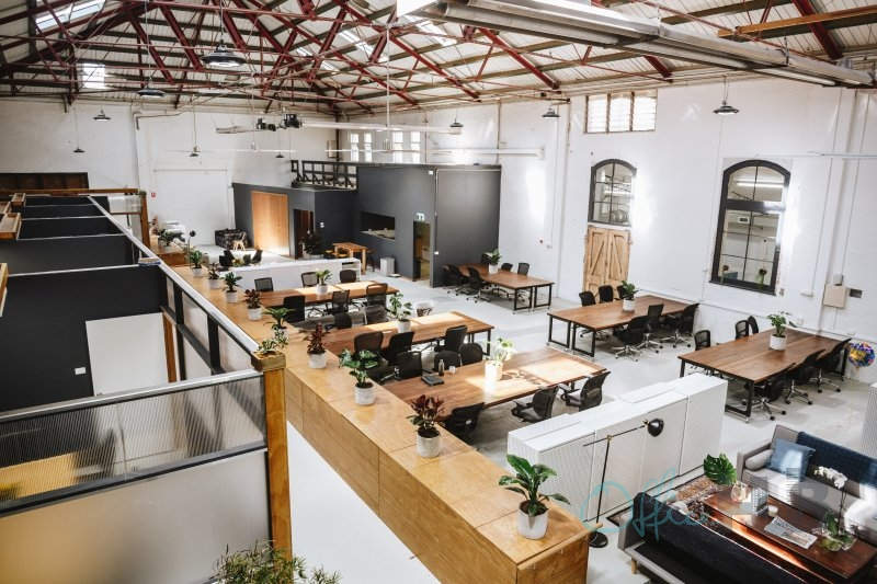 melbourne office space with warehouse design