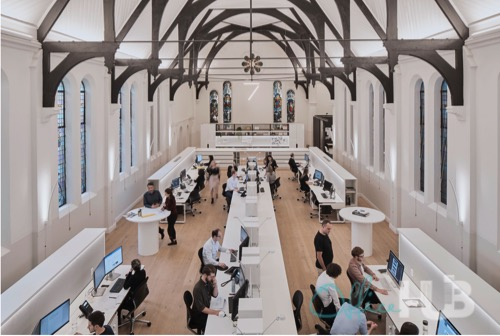 surry hills coworking space with a church design