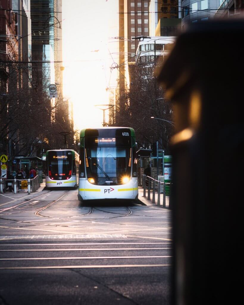 Tram to Docklands