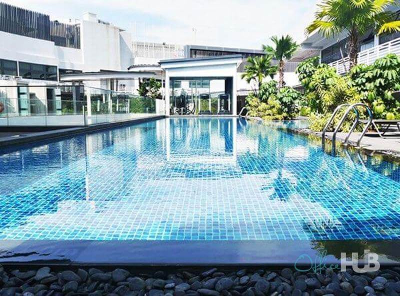 coworking space in singapore with swimming pool and lifestyle facilities