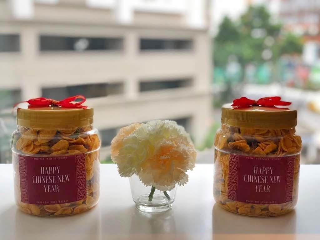 celebrate chinese new year at the office with traditional snacks